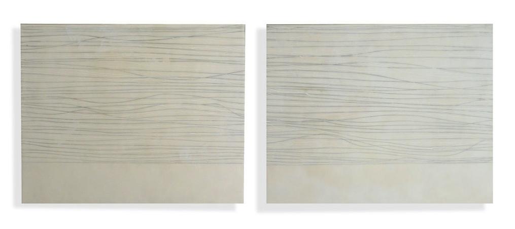 """Wave, 2011 Encaustic, Oil 32"""" x 20""""x 2"""" SOLD"""