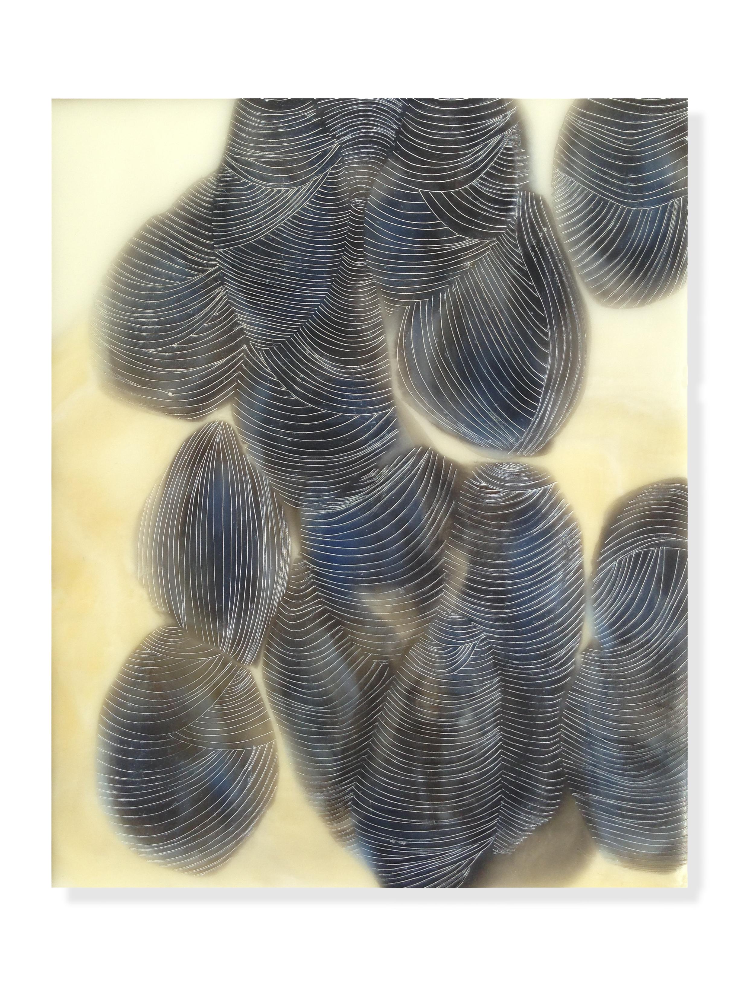 """Muscles, 2015 Encaustic, Oil 8"""" x 10""""x .875"""""""