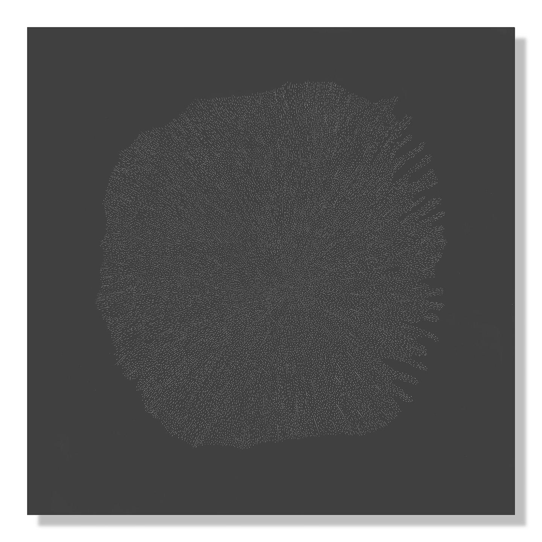 """Dark Matter 2, 2018 Encaustic, Oil 18""""x18"""""""