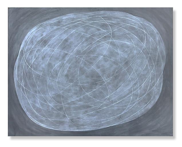 "Encircle 14, 2018 Encaustic, Oil 48"" x 60"" x 1.5"""