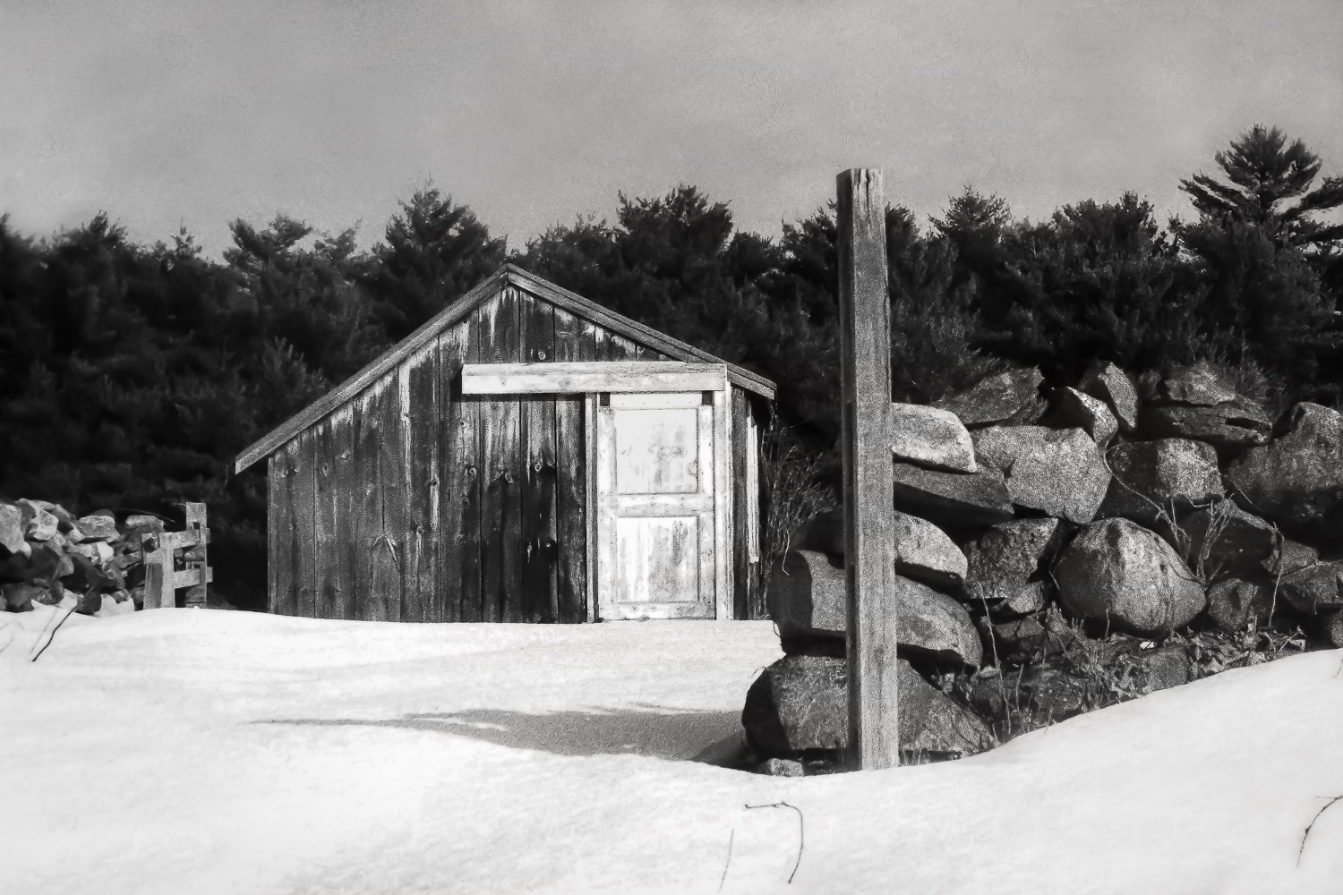 Shed In Snow   Ipswich, Massachusetts