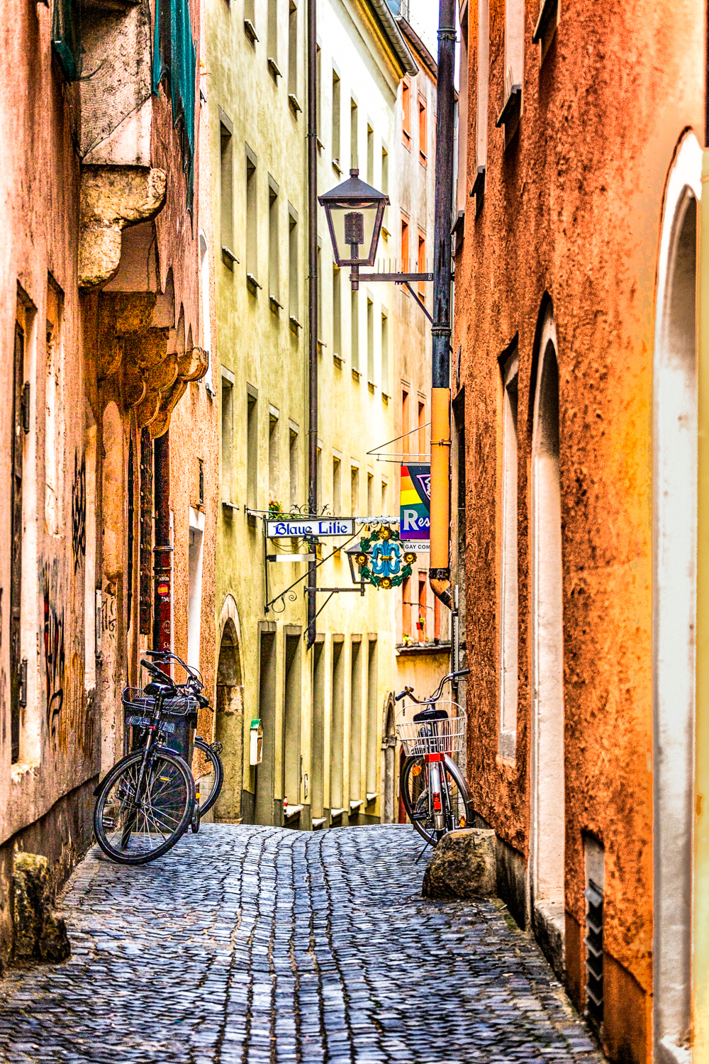 Bicycle Alley Regensburg, Germany