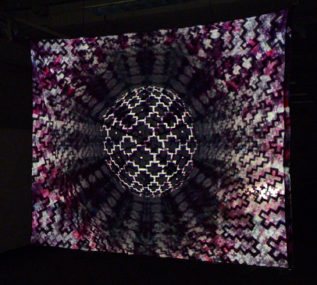 Projected Animation on Textile