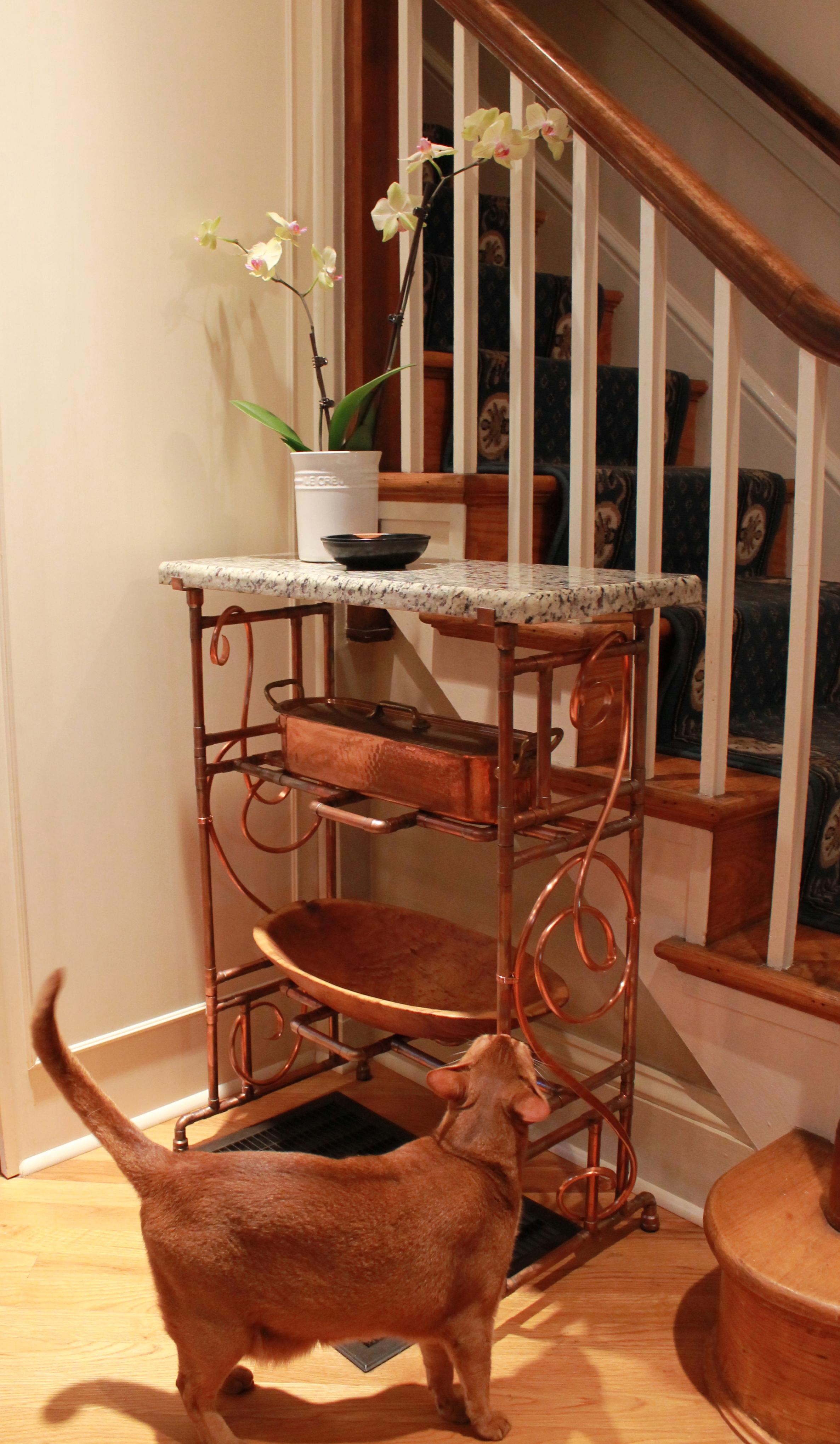 Granite and copper table