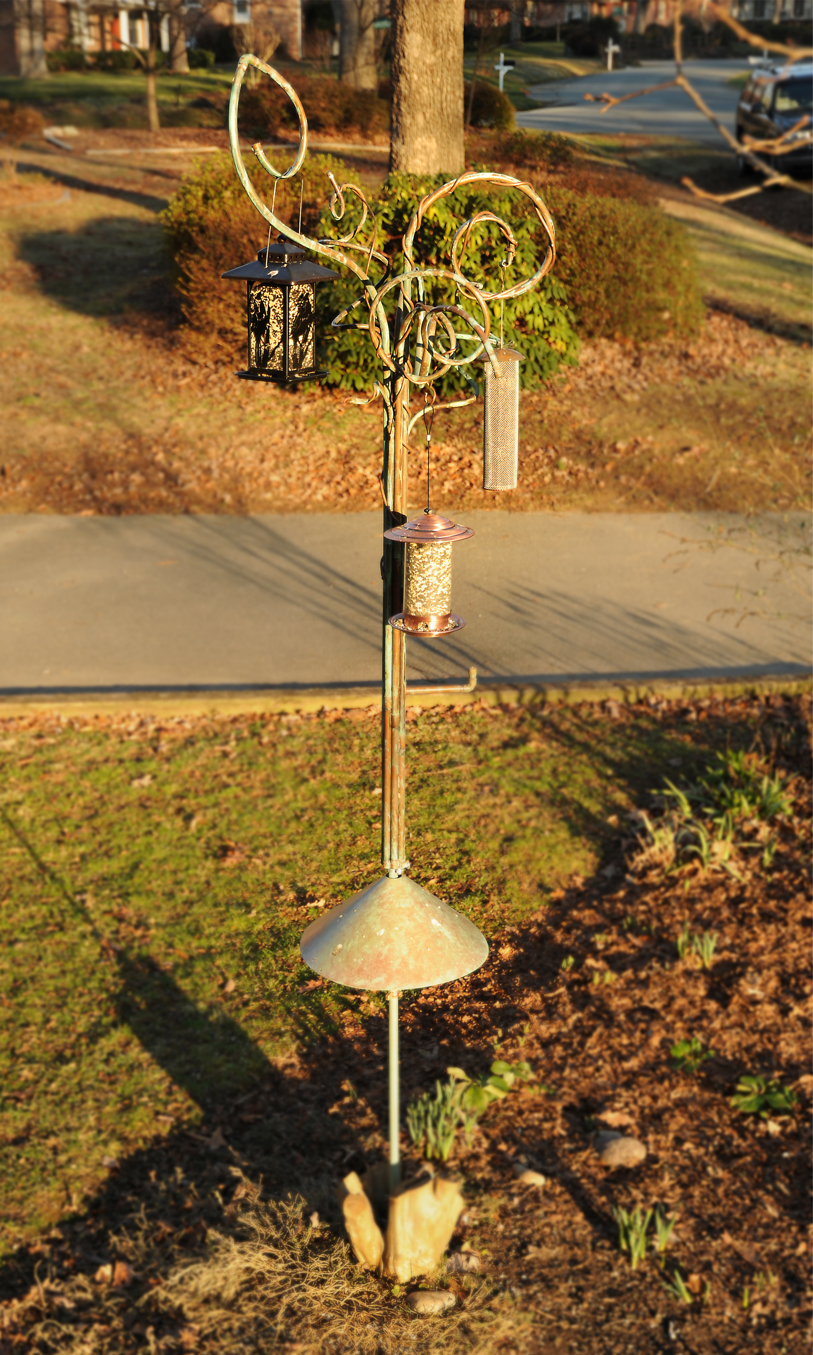 Seussian bird feeder tree