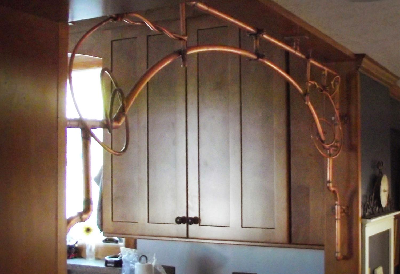 Copper Kitchen Valance