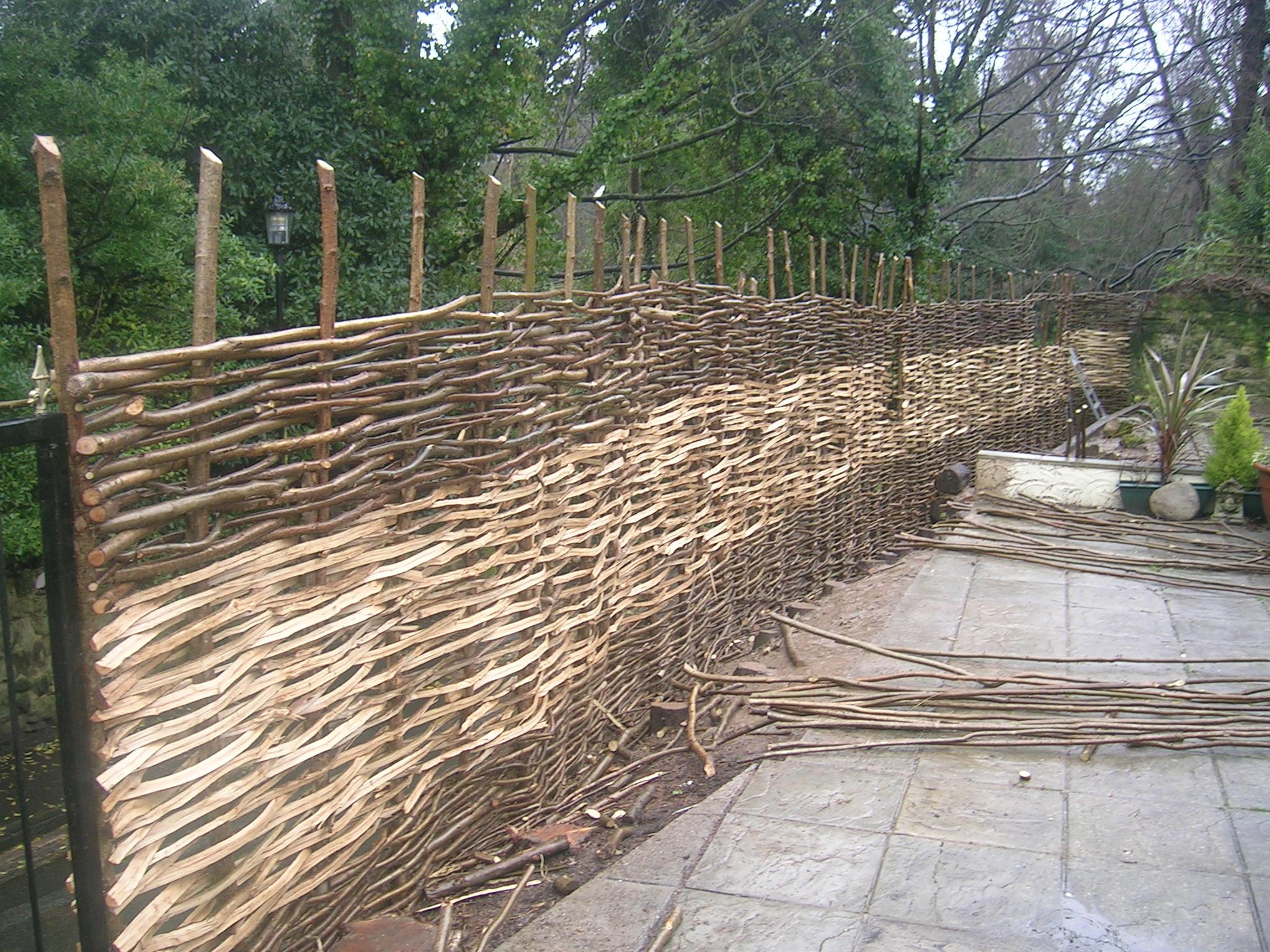 wattle weave fence