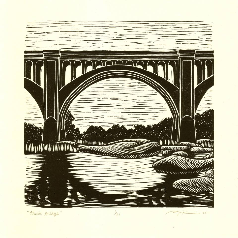 Train Bridge by Aijung Kim will be featured on this year's festival T-shirt