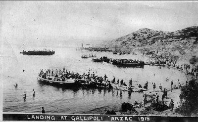 1915, Landing at Gallipoli, 'ANZAC'