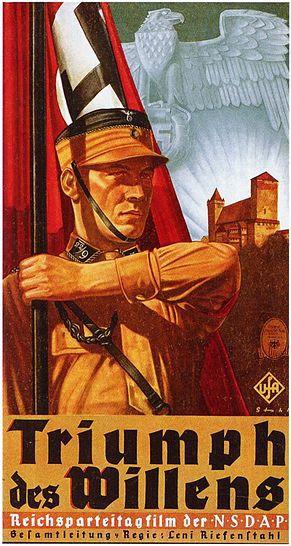 Poster for the 1935 film Triumph des Willens, 1935