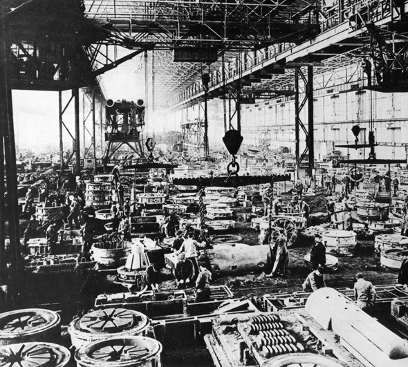 Krupp's steel plant in Essen as captured during The Great War
