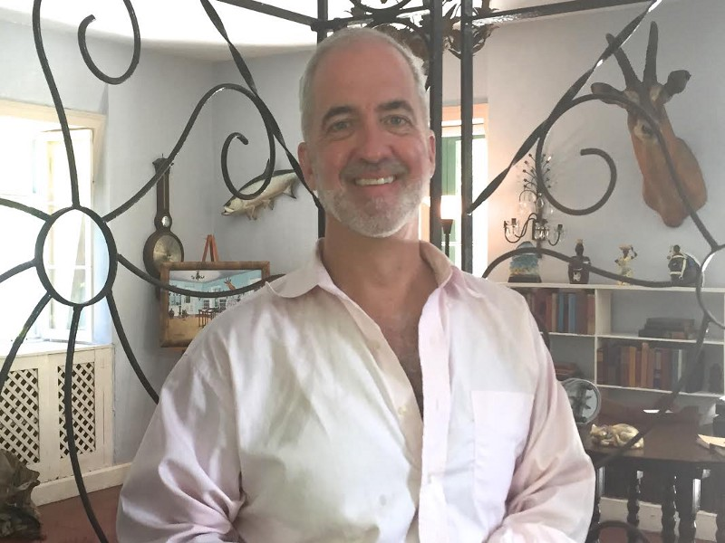 Stanton S. Coerr again, this time in May 2015 standing in Ernest Hemingway's office, Key West, Florida.