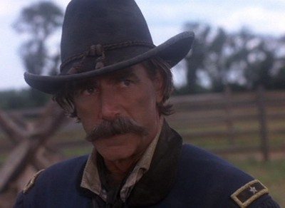 Buford as portrayed by Sam Elliot in the exceptionally detailed film   Gettysburg  .