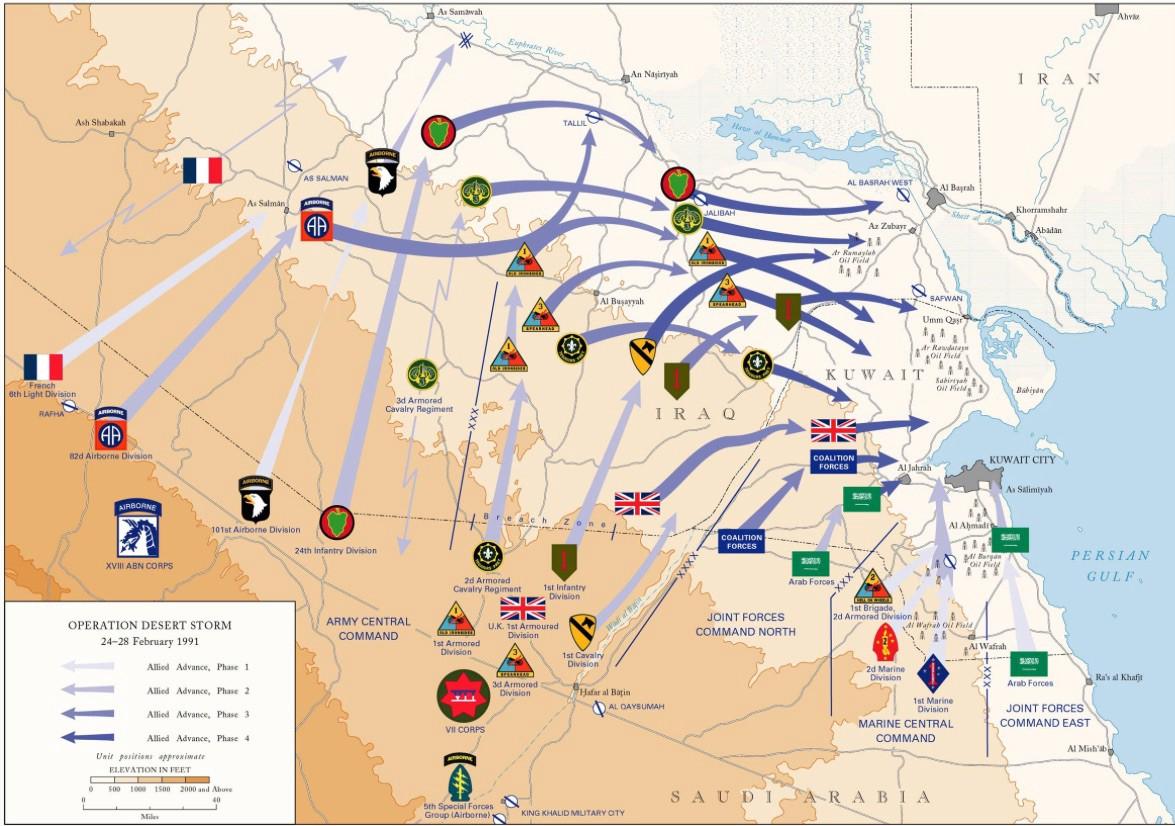"Desert Storm's ""left hook."" Image Courtesy: U.S. Army"
