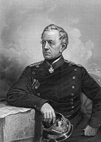 Count Helmuth Karl Bernhard von Moltke, 1800–1891, Prussian Field Marshal, Chief of the General Staff of Prussia (Wikimedia Commons)