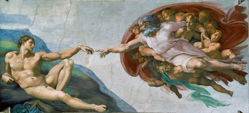 """The Creation of Adam"" by Michaelangelo as an exemplar of Imago Dei (Wikimedia Commons)"