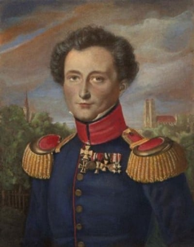 Portrait of Carl von Clausewitz while in Prussian service by   Karl Wilhem Wach   (Wikimedia Commons)