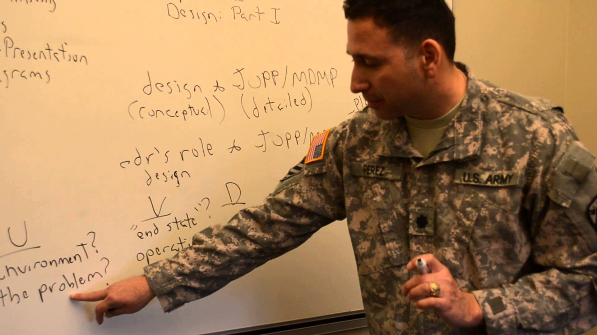 The author instructing at the U.S. Army Command and General Staff College |  Arguing the OE