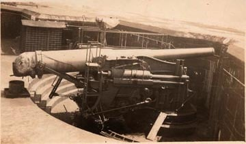 12-inch gun at Fort Preble, Maine (Photo courtesy the Joel Eastman Collection)