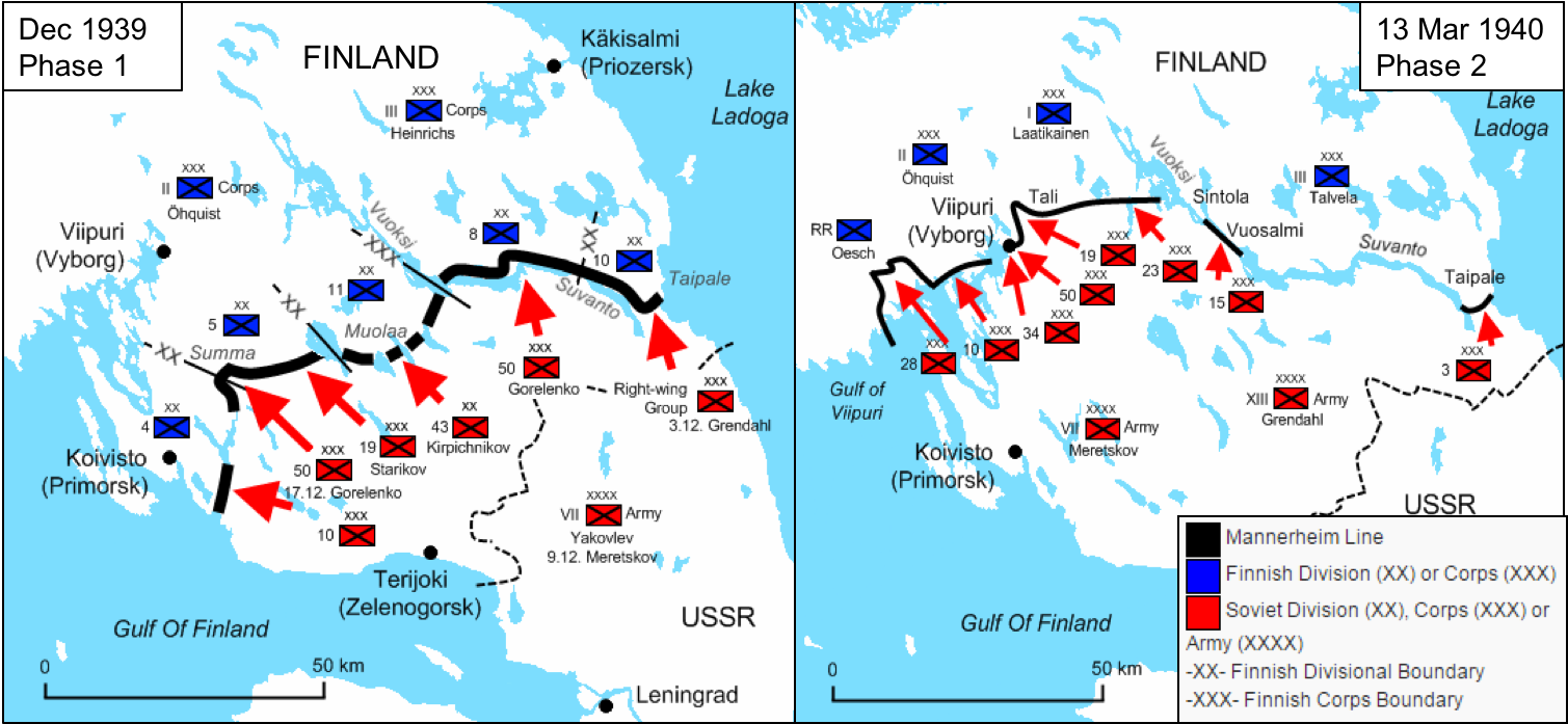 Soviet campaign Phases 1 and 2 (Source: Wikipedia , adapted by author)