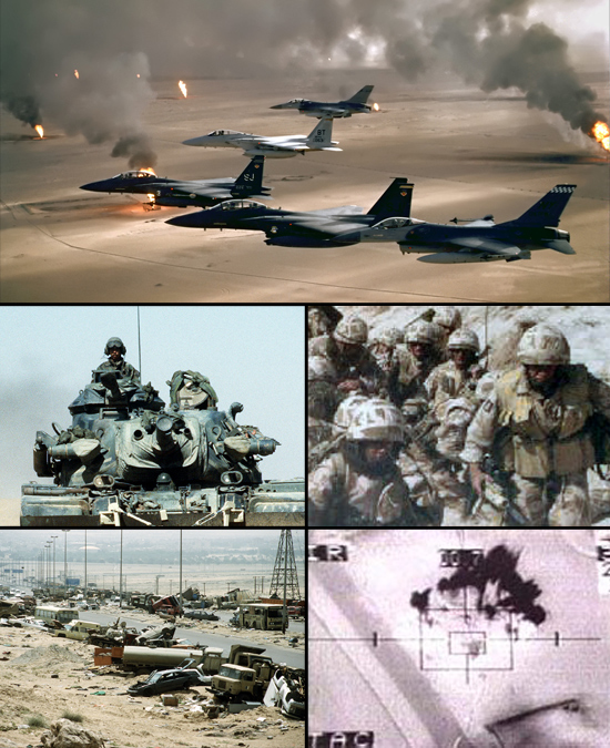 Gulf War photo collage (Wikimedia Commons)