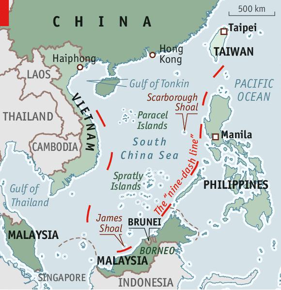China's Modern Nine-Dash Line (The Economist)