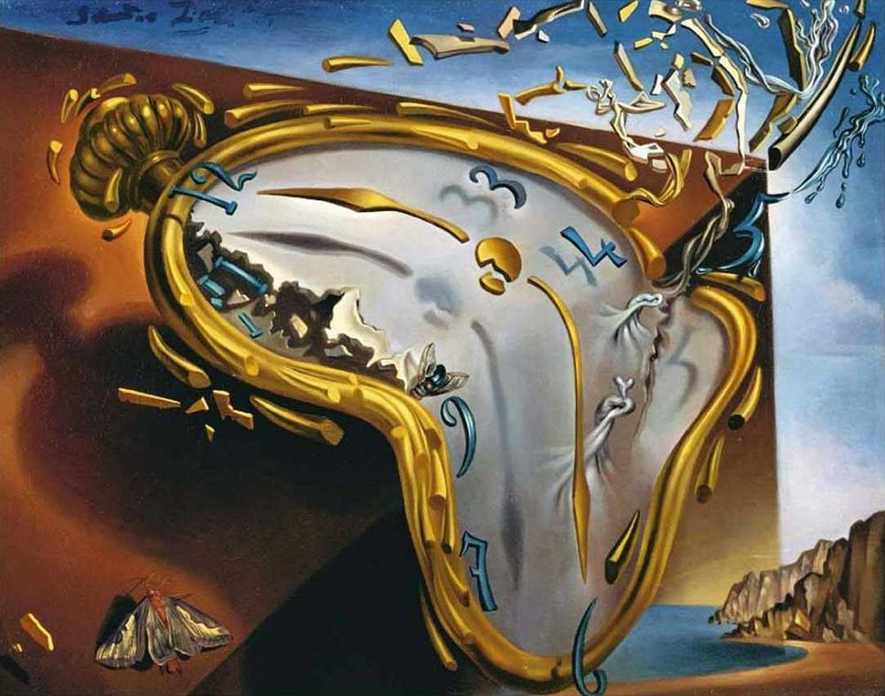 """""""Soft Watch at the Moment of First Explosion"""" by Salvador Dali"""