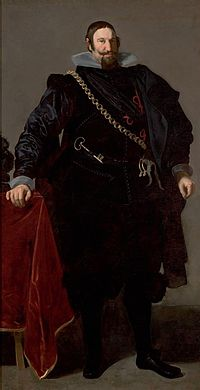 A youthful Olivares in 1624, three years into his time in power, by Diego Velázquez (Public Domain)