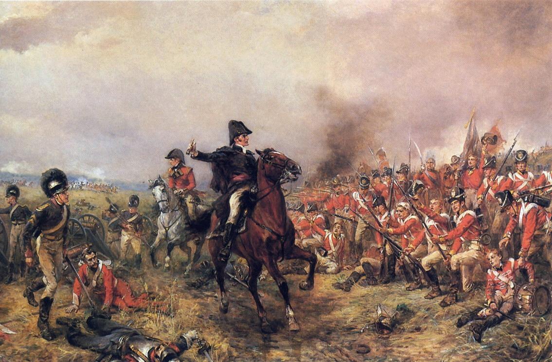 Wellington at Waterloo by Robert Alexander Hillingford. (Public Domain)