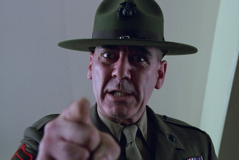 """Mandate Leadership: """"You will do this because...I have the ability to punish you if you do not do it.""""Gunnery Sergeant Hartman,  Full Metal Jacket  (1987)"""