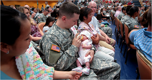 Soldiers and their families, Wiesbaden, Germany (Rolf Oeser, New York Times)