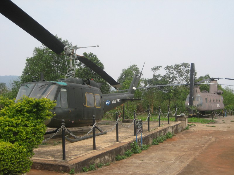 U.S. Aircraft left behind at Khe Sanh, now part of the small museum at the location of the former U.S. Marine base. Photo taken by the author in 2008.