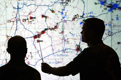 Lockheed Martin's Warfighters' Simulation (WARSIM) used during a command post exercise conducted by the U.S. Army's Second Infantry Division (2ID) and the Republic of Korea Army. ( Lockheed Martin photo )