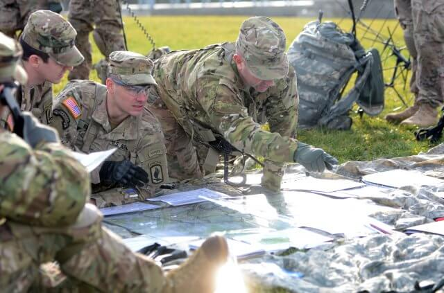 U.S. Army paratroopers, from the 173rd Airborne Brigade, conduct a week-long training event, Allied Spirit IV Command Post Exercise,at Vicenza, Italy. ( Photo via Staff Sergeant Opal Vaughn )