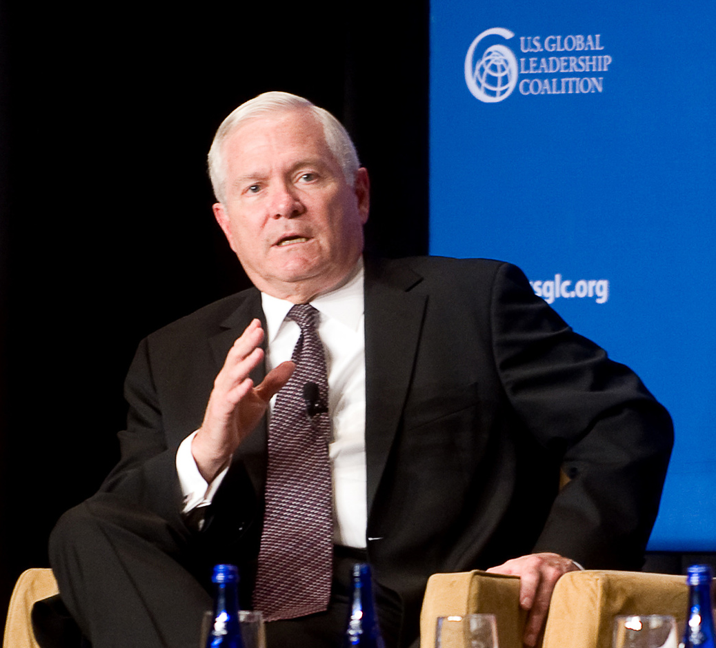 Secretary of Defense Robert M. Gates takes part in a U.S. Global Leadership Coalition roundtable discussion in Washington, D.C., on Sept. 28, 2010. (DoD photo by Cherie Cullen)