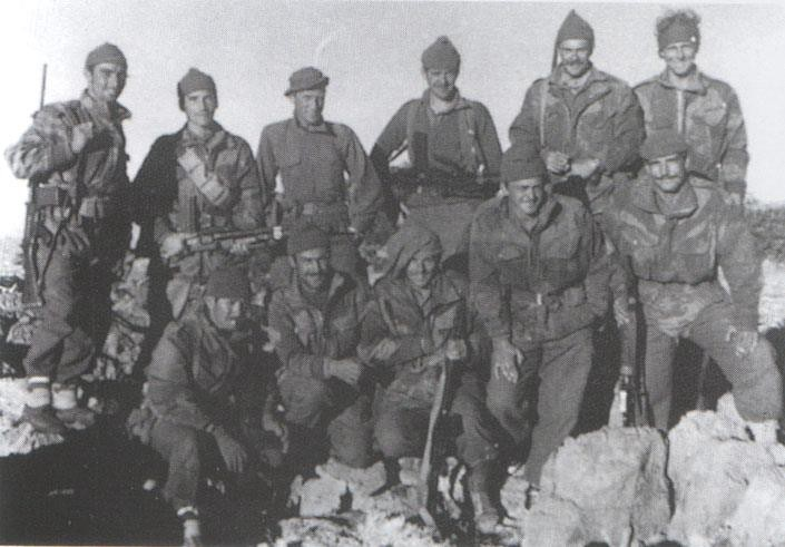 Troopers of 22 SAS on top of the Djebel, January 1959.