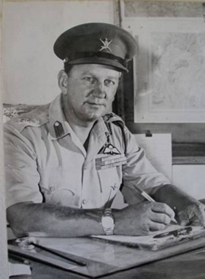 Colonel David Smiley, the first Commandant of the Sultan's Armed Forces. An experienced proponent of unconventional operations he served with Special Operations Executive in World War Two and after Oman advised insurgents supporting the Imam of Yemen against occupying Egyptian forces in the 1960s.