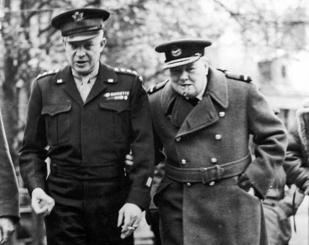 Eisenhower and Churchill in Northern France, 1944