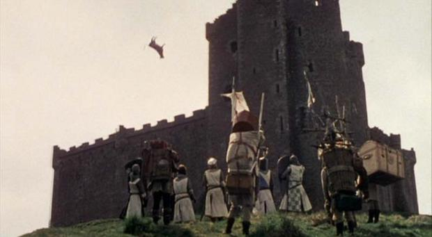 Cow Trebuchet from  Monty Python and the Holy Grail  (Python (Monty) Pictures, Sony Pictures)