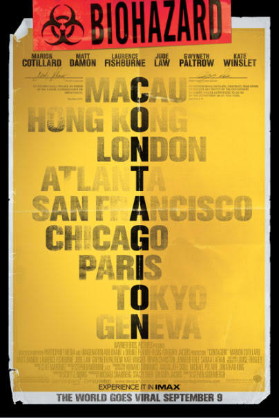 Contagion   Movie Poster ( Warner Brothers )