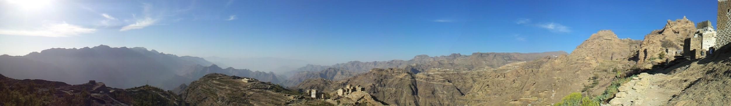 A Haraaz landscape, Yemen (Mufaddalqn,  Wikimedia Commons )