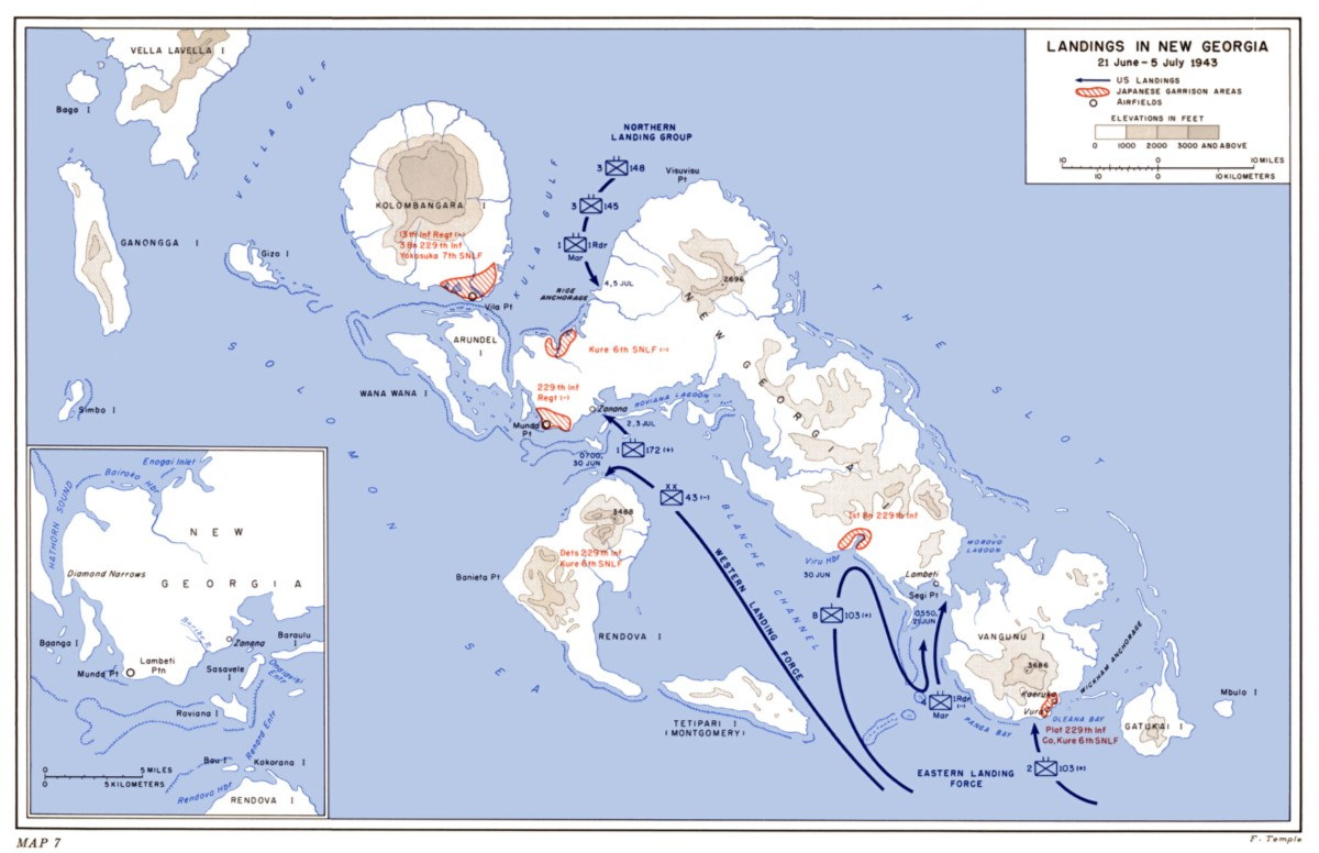 Source: United States Army in World War II, the War in the Pacific; Cartwheel: The Reduction of Rabaul