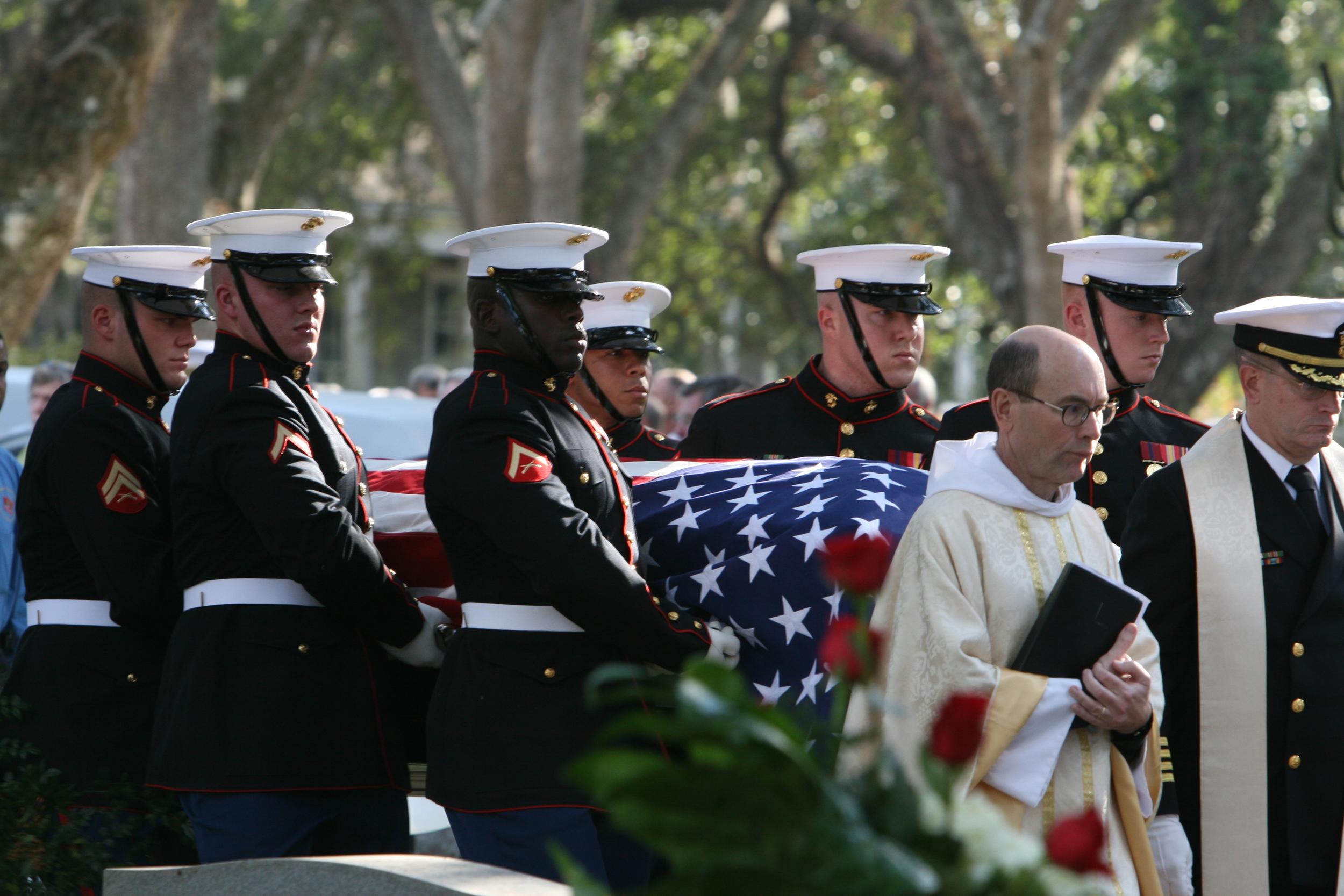 Military funeral. (Sgt. John J. Parry, USMC Photo)