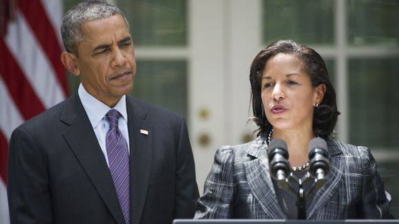 President Obama and National Security Adviser Susan Rice. (Jim Watson, AFP/Getty Images)