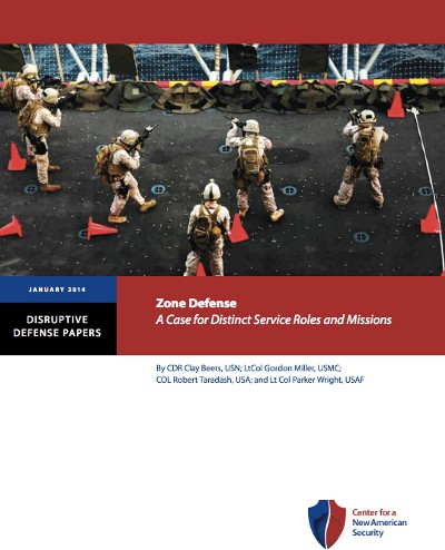 """Blurred Lines: """"Zone Defense: A Case for Distinct Service Roles & Missions"""" (CNAS.org)"""