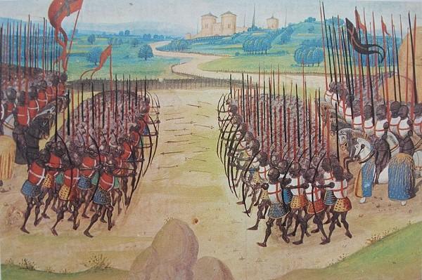 The Battle of Agincourt from the Chroniques d'Enguerrand de Monstrelet