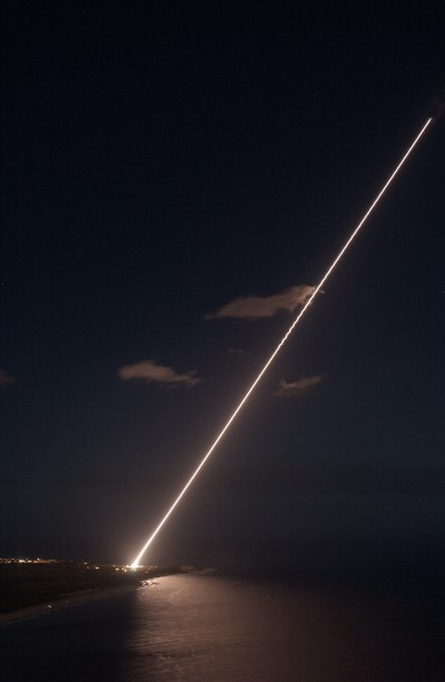 Terminal High Altitude Area Defense (THAAD).   THAAD is a land-based, U.S. Army, element of a larger Ballistic Missile Defense System that is capable of shooting down a ballistic missile both inside and just outside the atmosphere during their final, or terminal, phase of flight.