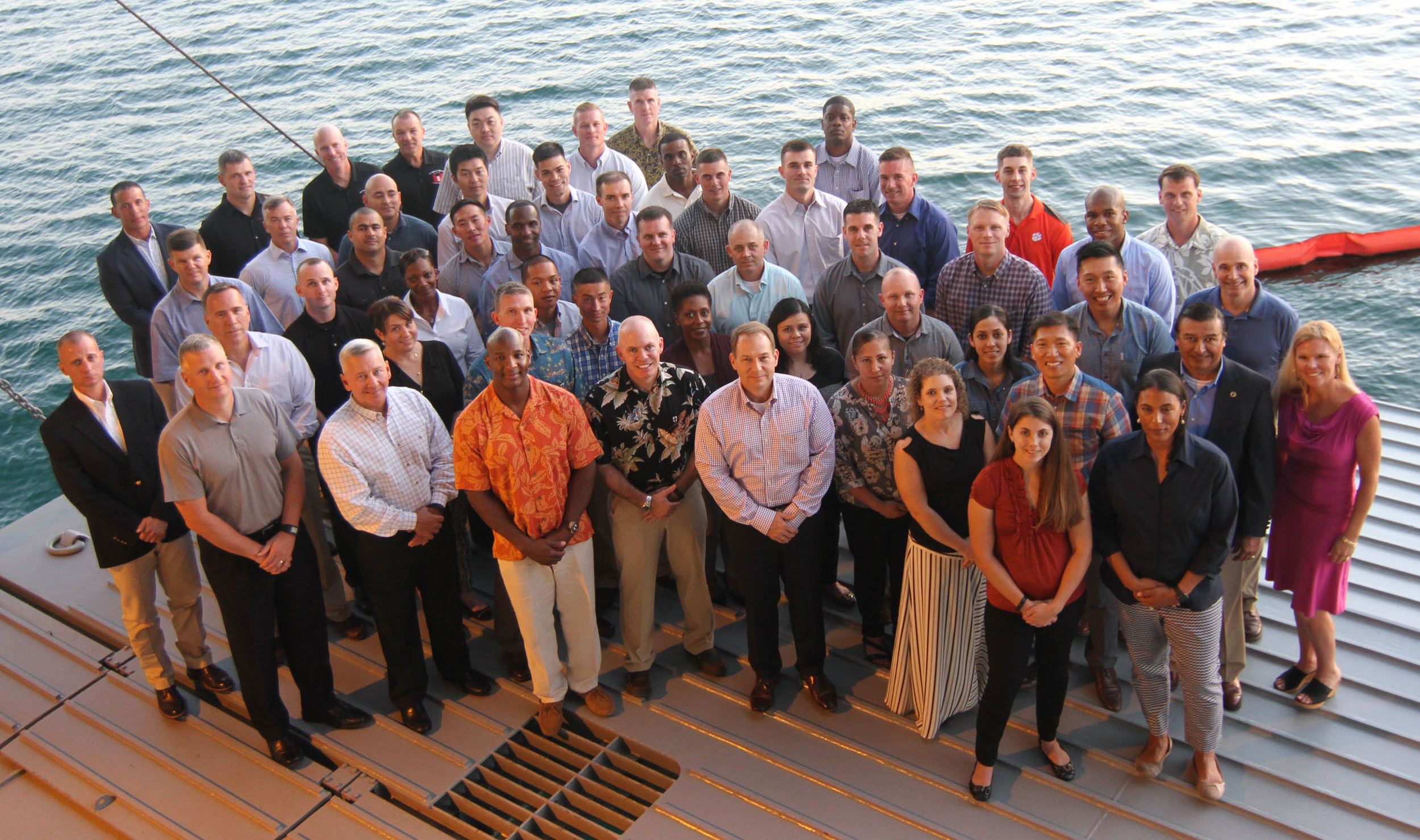Participants in the 8th Theater Sustainment Command-hosted Young Alaka'i leader development program, 2016.(Sgt. 1st Class Nicole Howell/U.S. Army Photo)