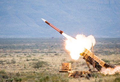 A launch of the Patriot air and missile defense system   Dan Plumpton.