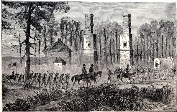 General Sherman marching out of Atlanta